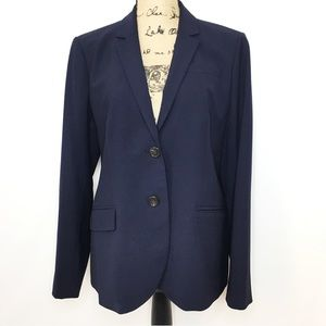 J. Crew Navy Blue 1035 Bi Stretch Wool Blazer